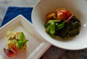 採れたて野菜で和食を