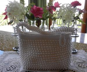 パール編みこみバッグ
