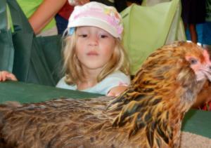 チキンと少女