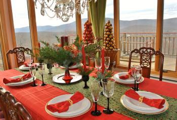 Christmasのテーブル