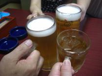 ビールとウ~ロン茶