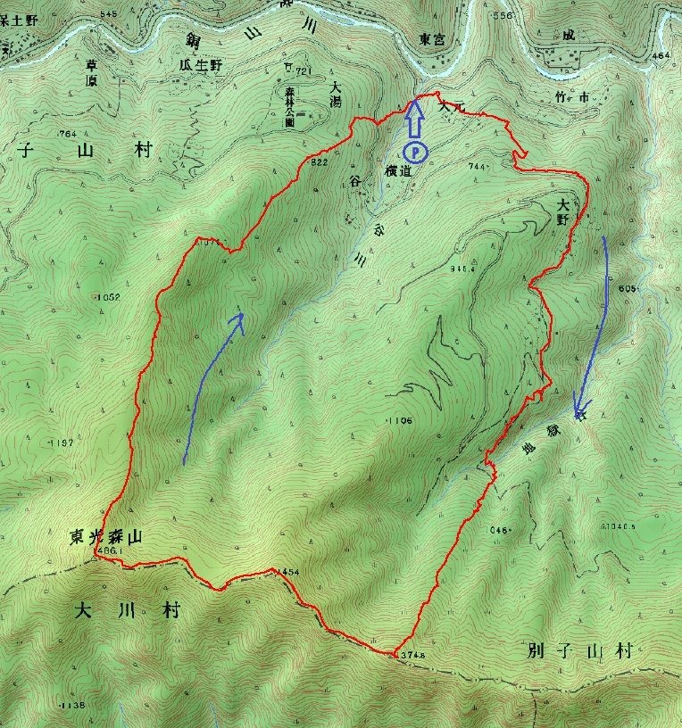別子山から東三森山
