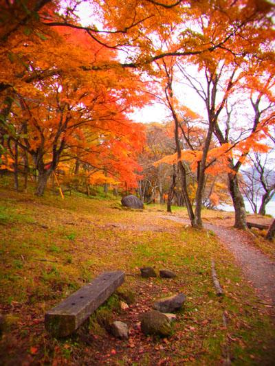 榛名湖畔の紅葉