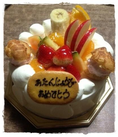 誕生日ケーキ20131126