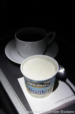 JAL機内食、Ben&Jerry`sのアイスクリーム