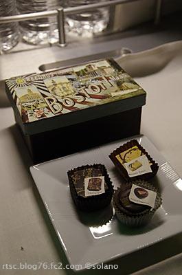 JALボストン線ビジネスクラスのプラリネ(チョコレート)