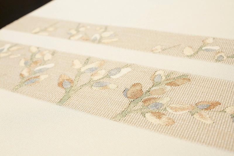 西陣河村織物手織綴れ立木金糸正絹八寸名古屋帯4