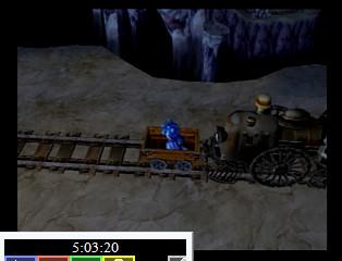 トロッコ洞窟機関車始動