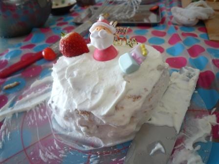 クリスマスケーキ2P1170032