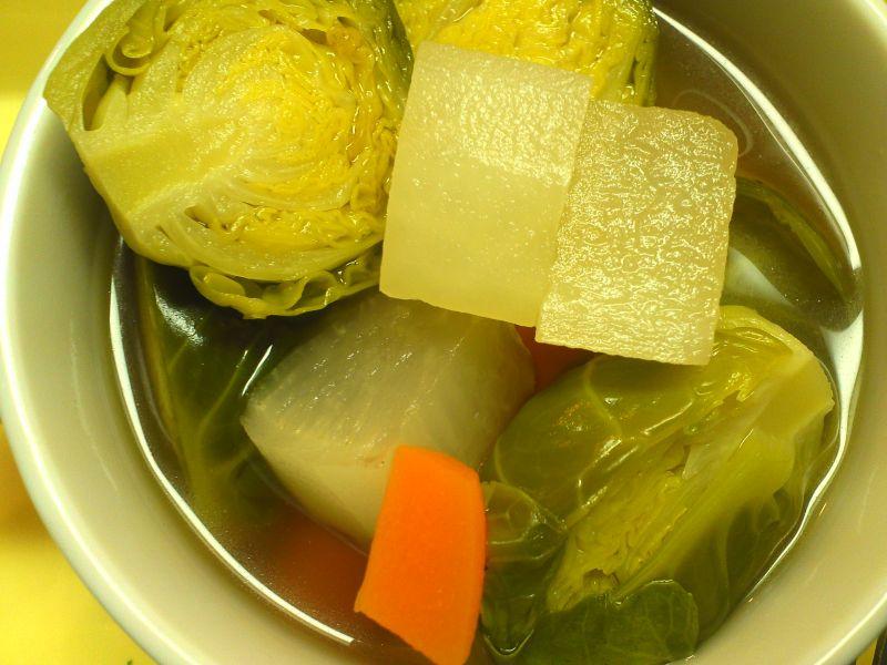 芽キャベツスープ