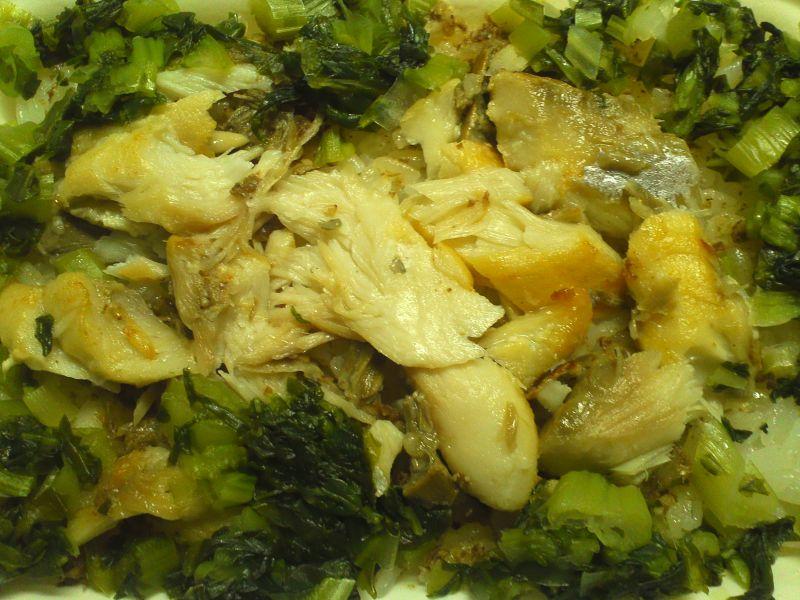 高菜とお魚のご飯