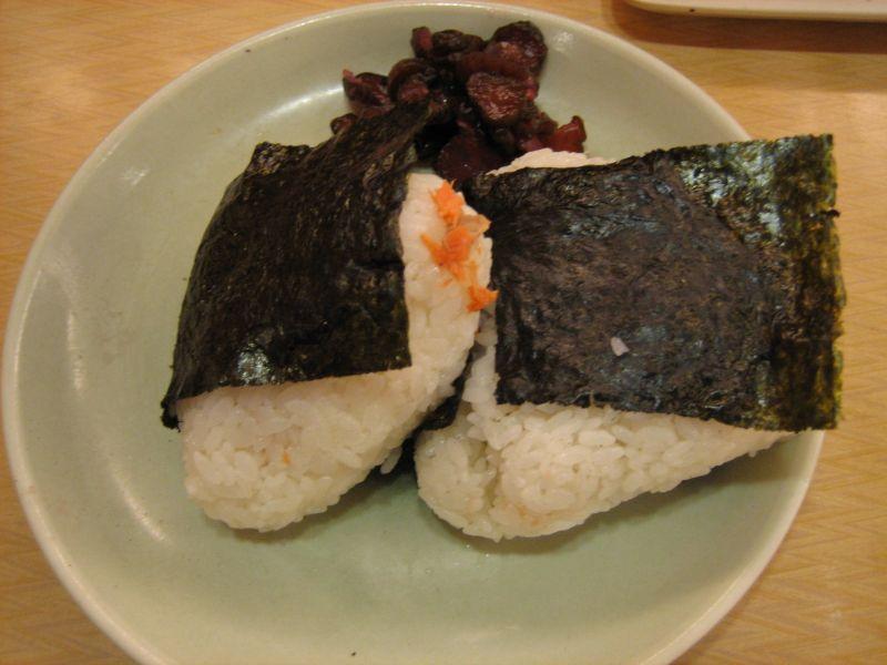 おにぎり鮭・タラコ
