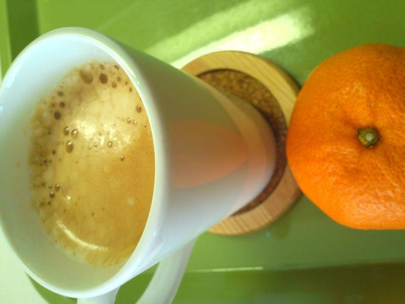 コーヒー&みかん