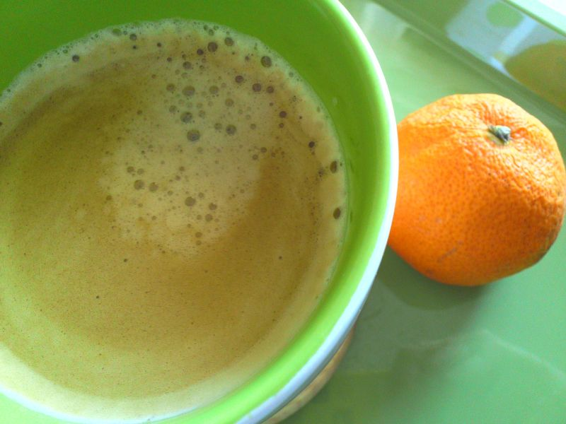 コーヒー・みかん