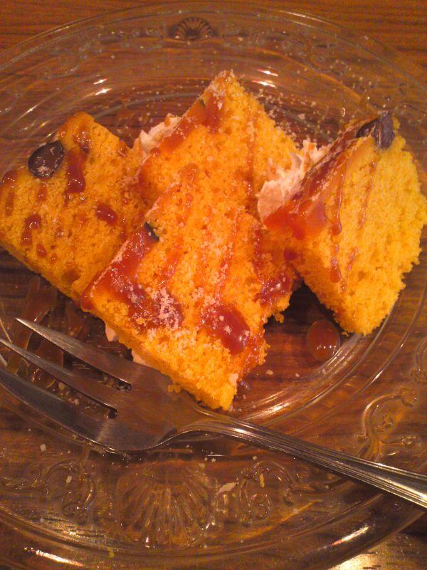 カボチャと小豆のケーキ