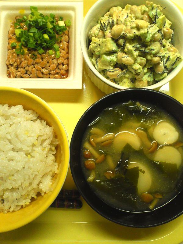 納豆・サラダ・ご飯セット