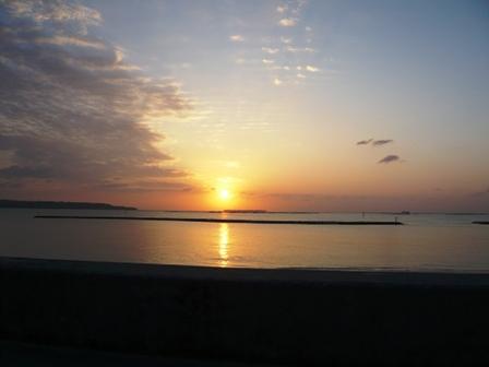 本部町の夕陽