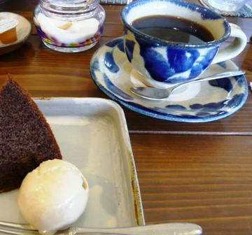 旬家ばんちゃん:デザート、ホット珈琲