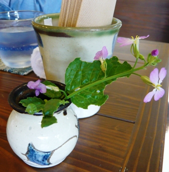 旬家ばんちゃん:テーブル花