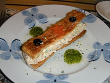 14鎌倉クリスマスセット4魚介類とチーズのサラダ