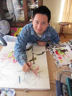 アマリリスを描く慶二郎