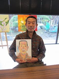 細野さんと肖像画