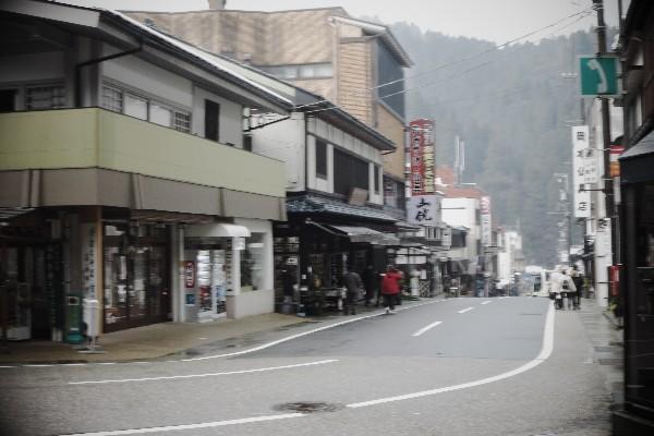 福井県永平寺町 門前町の通り 平寺町参道側