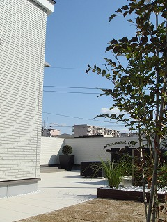 屋上庭園のある家120212b
