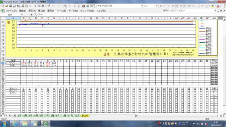 文鳥の体重とおやつの管理表2