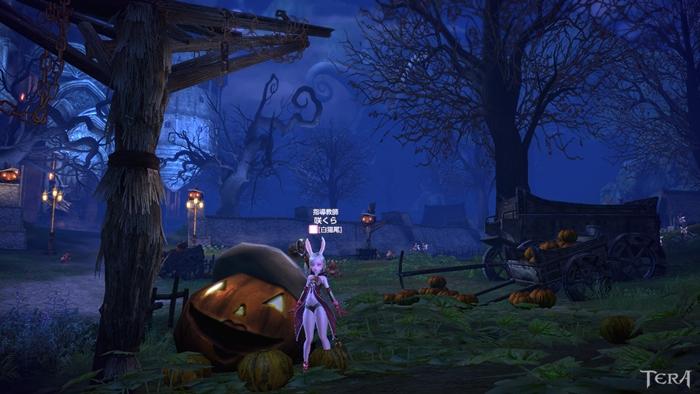 魔女の館前のパンプキンオブジェ