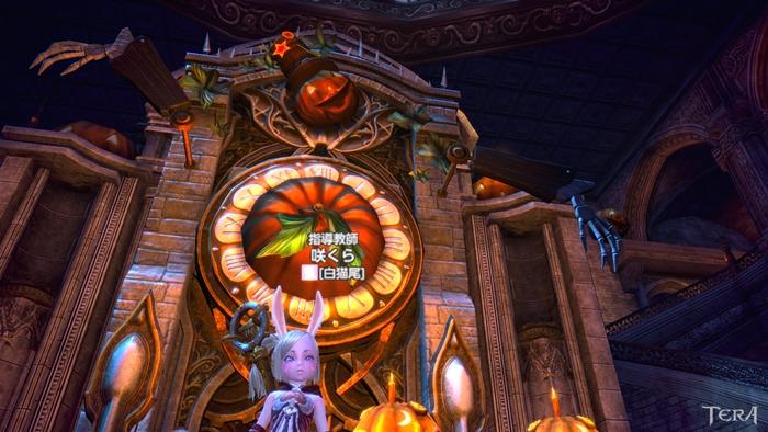 魔女の館 1階のパンプキン時計^^