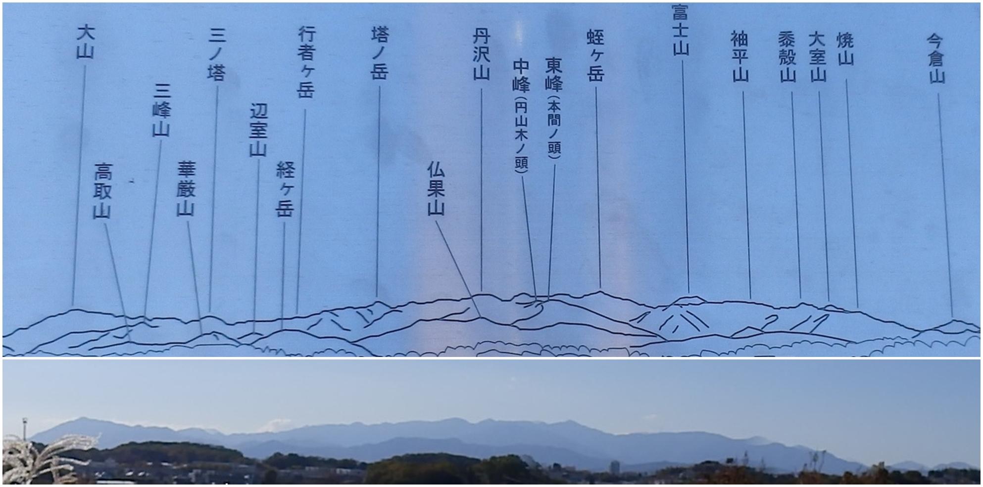 丹沢の山並み2-vert