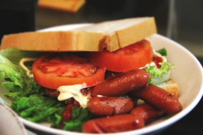 チーズチキンサンド+ウィンナー