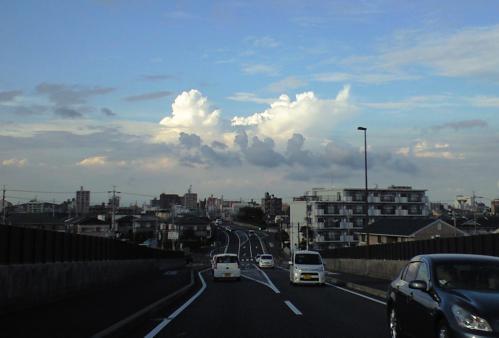 帰り道の雲