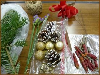 20131128 材料 クリスマスリース