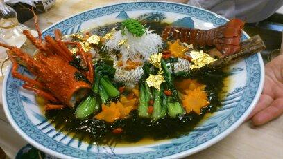 神田川伊勢海老真鯛創作料理