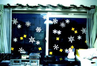 雪の結晶、窓