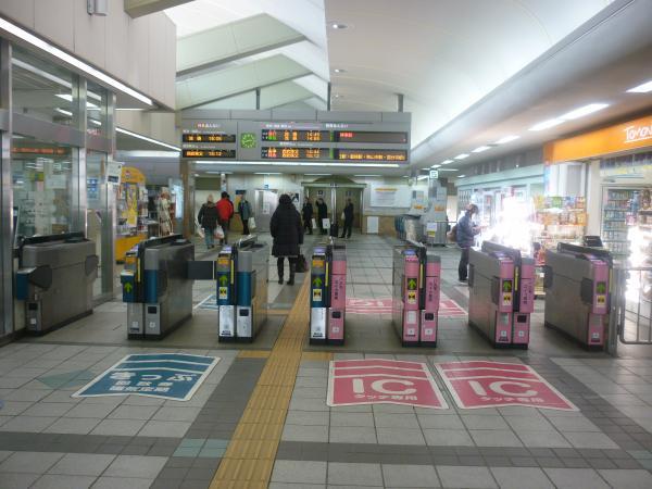 2014-02-01 飯能駅 自動改札機