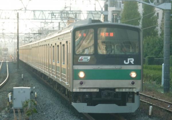 2013-11-24 埼京線205系ハエ18編成 赤羽行き1