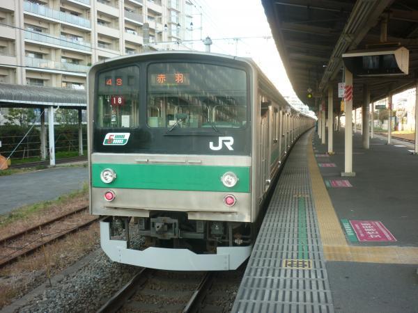 2013-11-24 埼京線205系ハエ18編成 赤羽行き2