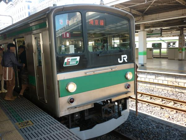 2013-12-29 埼京線205系ハエ18編成 大宮行き2