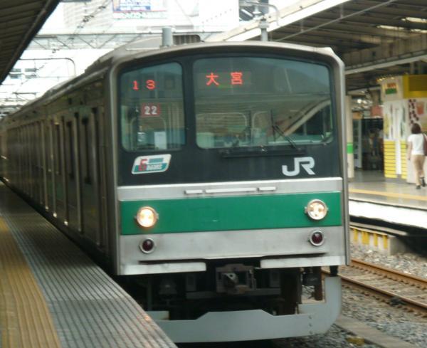 2013-08-04 埼京線205系ハエ22編成 大宮行き1
