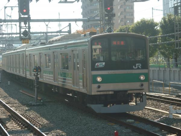 2013-11-24 埼京線205系ハエ22編成 快速川越行き1