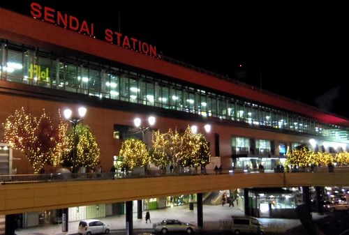 2012仙台駅周辺イルミネーション1仙台駅