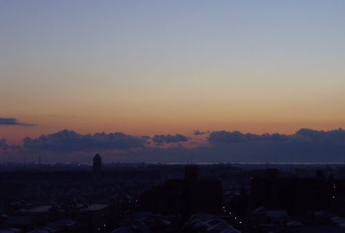 2013初詣金蛇水神社1夜明け