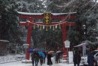 どんと祭2013大崎八幡宮3北参道鳥居