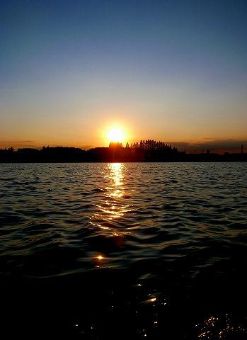 2011-09-15 伊佐沼の夕日 002