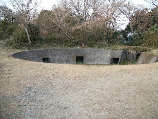 武山高角砲台砲座