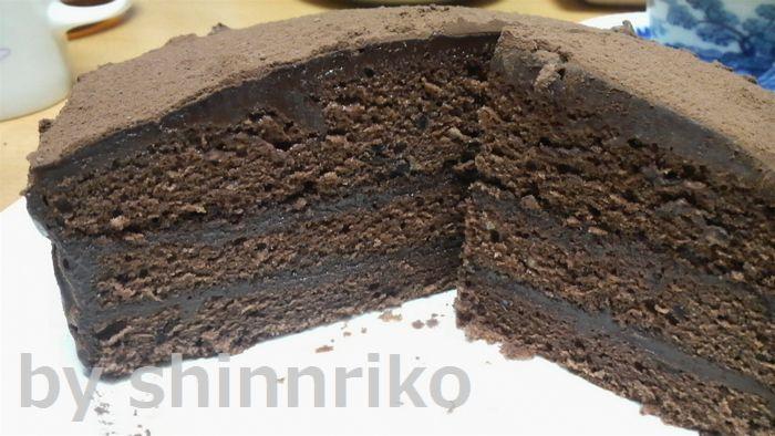 ガナッシュケーキ断面