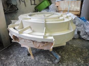 信和技研 / パーツフィーダーに装着するボウルを塗装しました。